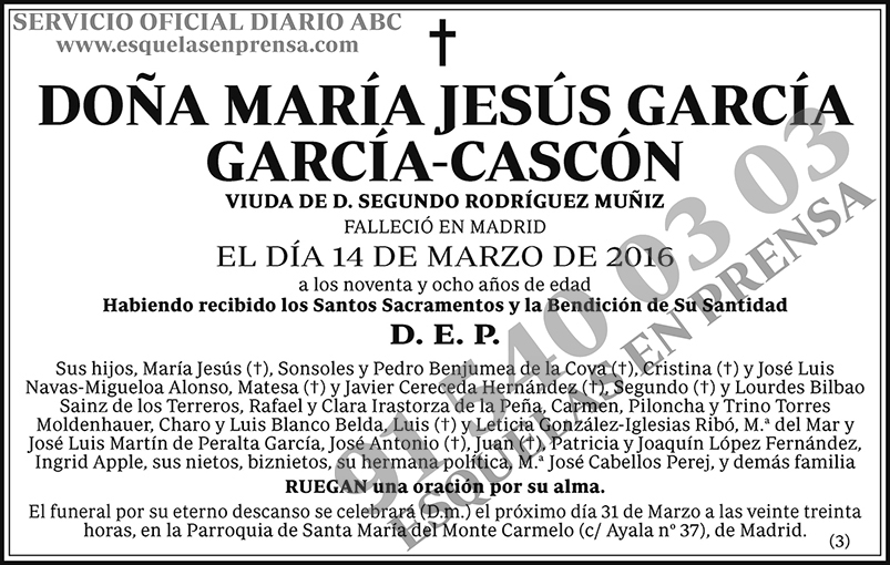María Jesús García Gracía-Cascón